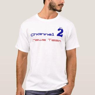 Camiseta equipo de noticias del canal 2