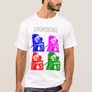 Camiseta Equipo de submarinismo coloreado