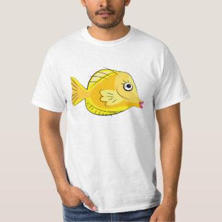 Camiseta Equipo de submarinismo tropical amarillo de los