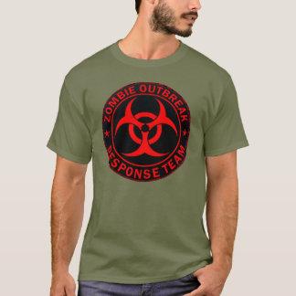 Camiseta Equipo táctico de la respuesta del zombi