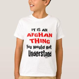 Camiseta Es diseños AFGANOS de la cosa