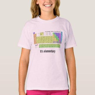 Camiseta Es friki elemental de la química de la tabla
