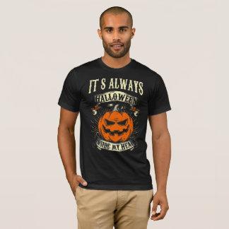 Camiseta Es hallowen siempre dentro de mi cabeza