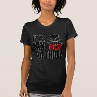 Camiseta Es mis 62 diseños del cumpleaños