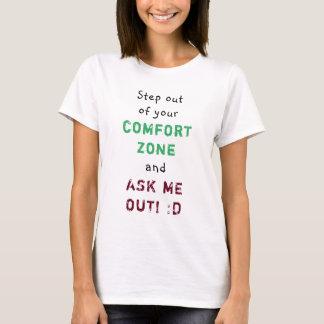 Camiseta Escalonamiento de mujeres de la zona de comodidad