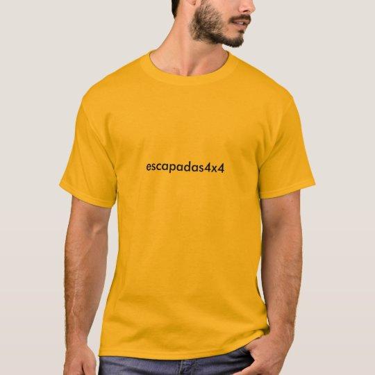 Camiseta escapadas4x4 super naranja