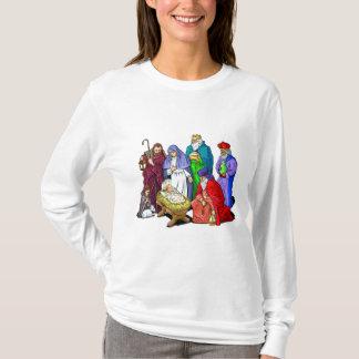 Camiseta Escena colorida de la natividad del navidad