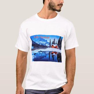 Camiseta Escena hivernal de Feliz Navidad
