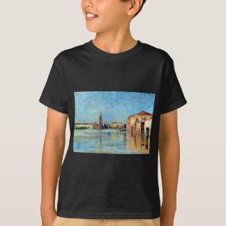 Camiseta Escena veneciana del canal del palacio del dux de
