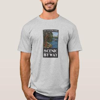 Camiseta escénica del camino apartado de las islas
