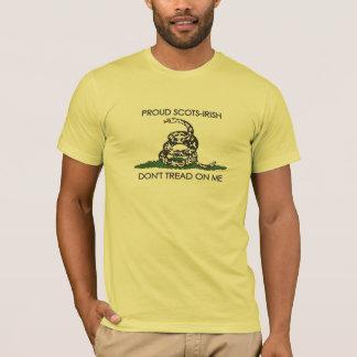 Camiseta Escocés-Irlandés orgulloso - no pise en mí