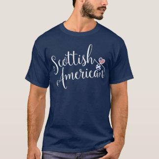 Camiseta escocesa de los corazones de Entwinted