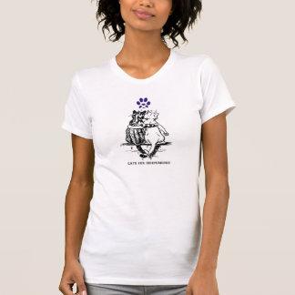 Camiseta escocesa de los gatos de la independencia