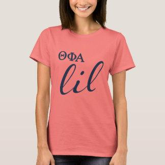 Camiseta Escritura alfa de Lil de la phi de la theta