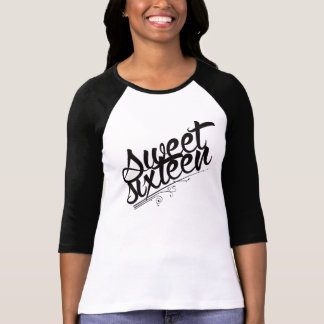 Camiseta Escritura del dulce dieciséis