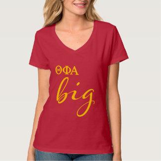 Camiseta Escritura grande alfa de la phi de la theta