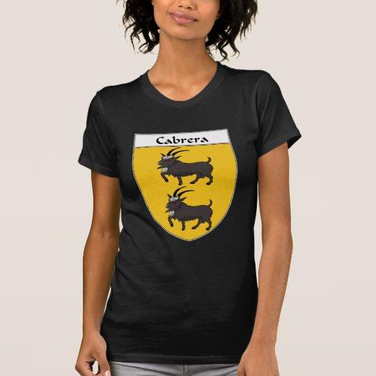 Camiseta Escudo de armas de Cabrera/escudo de la familia