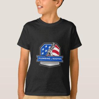 Camiseta Escudo de la bandera de los E.E.U.U. de la llave