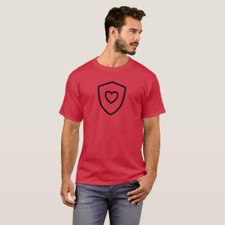 Camiseta Escudo del corazón en cardenal