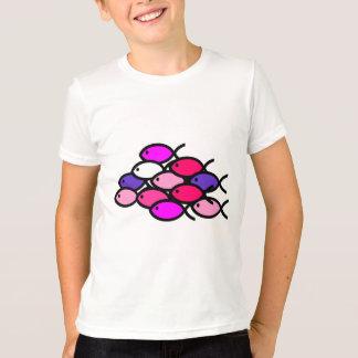 Camiseta Escuela de los símbolos cristianos de los pescados