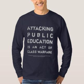 Camiseta Escuelas públicas de la ayuda del ~ de la guerra