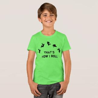 Camiseta Ése es cómo ruedo la alegría de Parkour de la