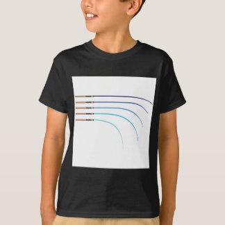 Camiseta Espacios en blanco curvados vector doblado de la