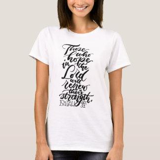 Camiseta Esperanza en el señor Brush Script