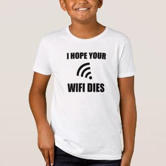 Camiseta Espere sus dados de Wifi