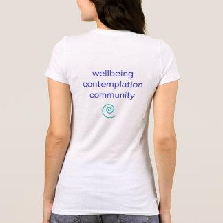 Camiseta espiral básica de la yoga de la