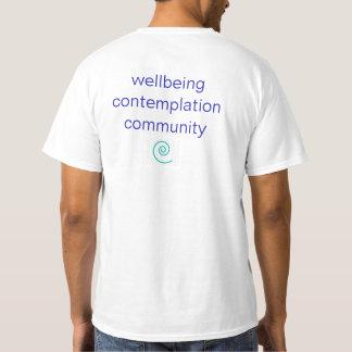 Camiseta espiral de la yoga de la trayectoria de