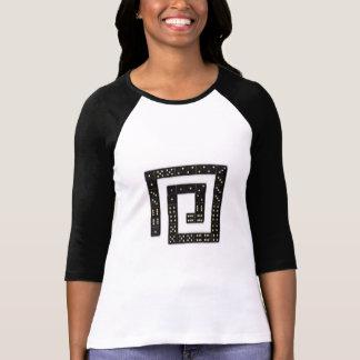 Camiseta espiral del raglán del dominó