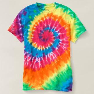 Camiseta espiral del teñido anudado de los hombres