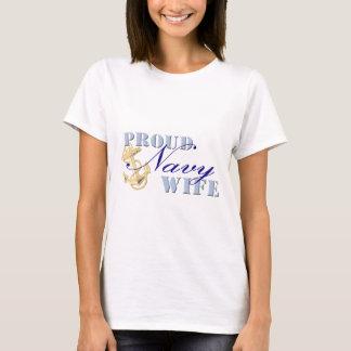 Camiseta Esposa orgullosa de la marina de guerra