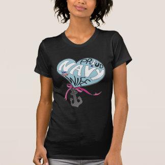 Camiseta Esposa orgullosa de la marina de guerra - cuello