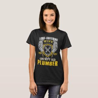 Camiseta Esposa sufrida de un viejo fontanero gruñón