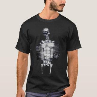 Camiseta esquelética de la radiografía del pecho