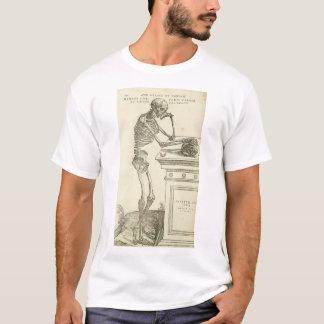 Camiseta Esqueleto de Andreas Vesalius de la anatomía del