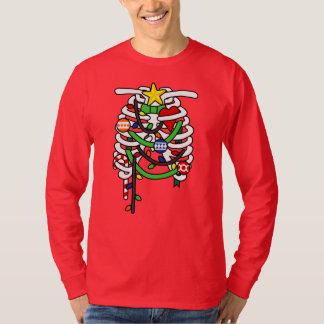 Camiseta Esqueleto de la radiografía de las costillas del