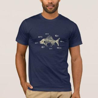 Camiseta Esqueleto de los pescados de Darwin