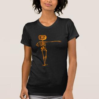 Camiseta Esqueleto plano del ballet de la tercera posición