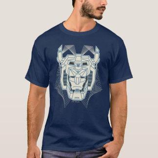 Camiseta Esquema azul de Voltron el   Voltron y blanco