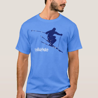 Camiseta Esquí azul de la nieve del telururo