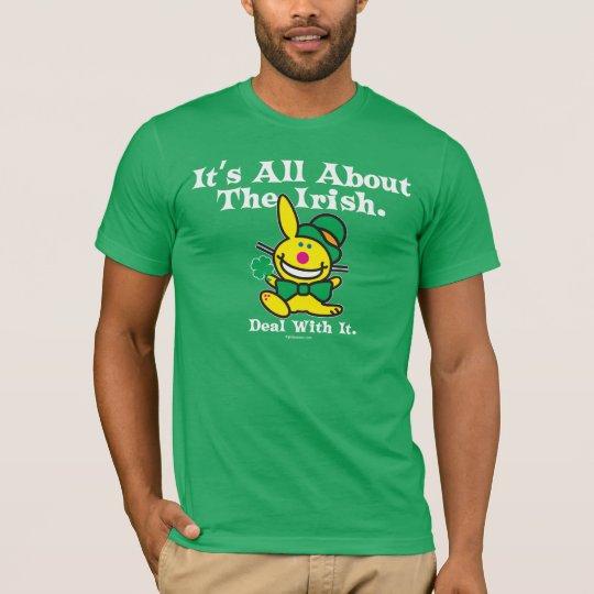 Camiseta Está todo sobre el irlandés (el verde)