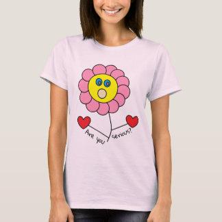 Camiseta Está usted diseño floral sorprendido divertido