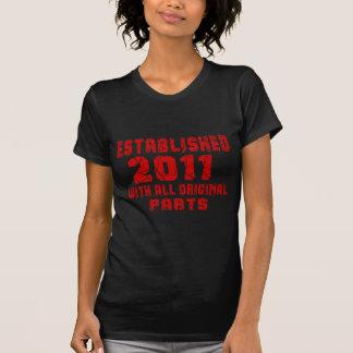 Camiseta Establecido 2011 con todas las piezas originales