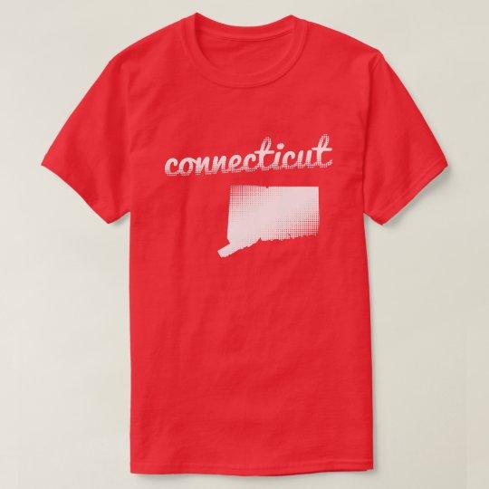 Camiseta Estado de Connecticut en blanco