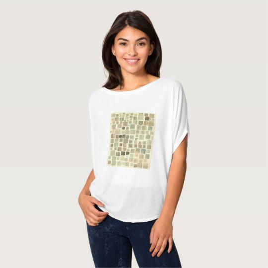 camiseta estampado de  cuadrados acuarela