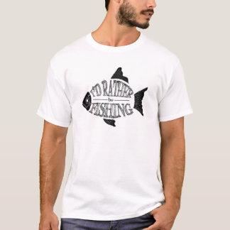 Camiseta Estaría pescando bastante - diseño lindo de los