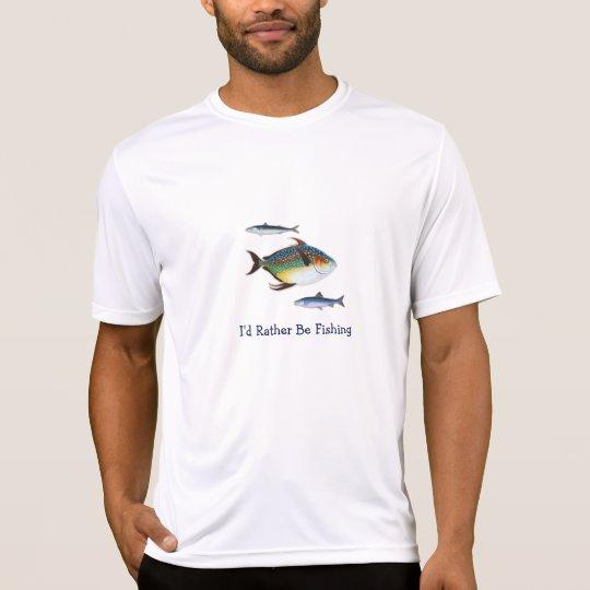 Camiseta Estaría pescando bastante, tres pesco, refrán